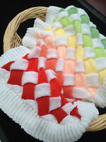 """Baby Blanket Knitting Pattern Entrelac Pram and Cot Quilt cover 21x30"""" DK  551"""