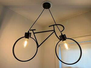 Retro Metal Design Bicycle Ceiling Hanging Pendant Light Lamp
