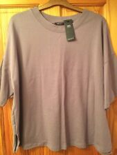 BNWT Ladies M&S Collection Size 20 Amethyst Cotton Short Sleeve Round Neck Top