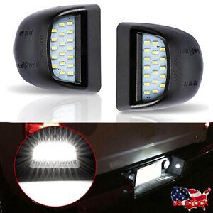 2xLED License Plate Light Assembly For Chevy Silverado GMC Sierra 1500 2500 3500
