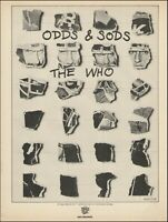 The Who Roger Daltrey Pete Townshend original 1974 Odds & Sods MCA Records ad