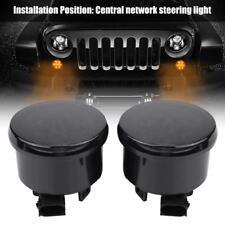 LED Turn Signal Parking Side Marker Light Fender Smoke Lens For Jeep Wrangler JK