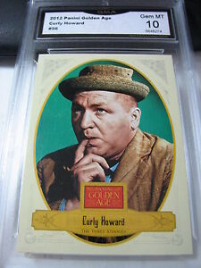 CURLY HOWARD THE THREE STOOGES 2012 PANINI GOLDEN AGE # 56 GRADED 10