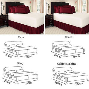 New Wrap Around Bed Skirt Bedding Valance Elastic Band Bed Ruffled Bedroom Decor
