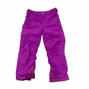 Columbia Artic Trip II Snow Pants Omni Heat Waterproof Purple Girl's Size XS 6/7