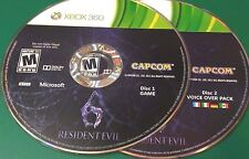 Resident Evil 6 (Xbox 360)(INCLUDES VOICE OVER PACK)(DISCS ONLY) #5810