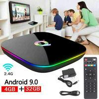 Q+ Android 9.0 TV BOX Smart H6 Quad Core 6K USB3.0 HD Media Player US Plug A8