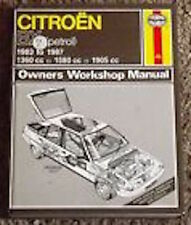 CITROEN BX PETROL OWNERS WORKSHOP MANUAL 1983 TO 1993___ USED ___ FREEPOST UK