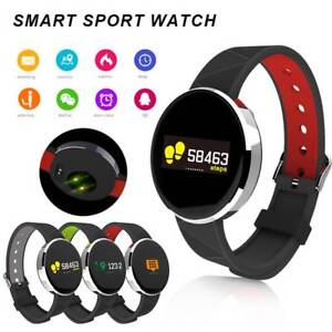 Bluetooth Smart Watch Heart Rate Blood Pressure Touch Screen Phone Mate Watch