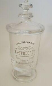HOTEL BALFOUR NEW APOTHECARY PEDESTAL GLASS JAR LID Dr. Gnadendorff Bathroom