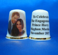 Birchcroft China Thimble -- Prince Harry and Meghan Markle Engagement ( New )