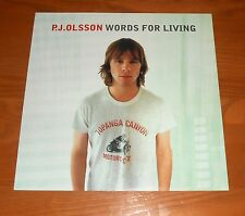 P.J. Olsson Words for Living Poster 2-Sided Flat Square 2000 Promo 12x12
