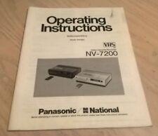 National Panasonic Nv-Cassette De Video Grabadora y 200 Libro/Manual de instrucciones