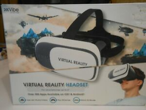 VIBE, Virtual Reality Headset. in White.  Can Be Worn w/Glasses.