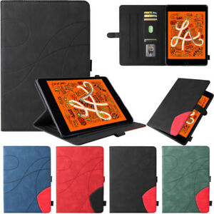 Leather Smart Wallet Case Cover For iPad 5 6 7 8 9th Gen Pro 11 Air 2 3 4 Mini 5