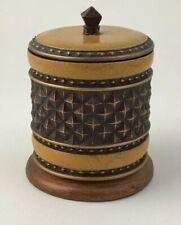 Decorative Canister Trinket Jar Resin Swab Cotton Ball India Ink Vanity Kitchen