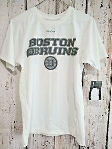 LZ Reebok Youth Medium Boston Bruins Slinky Short Sleeve Tee T-Shirt Top NEW