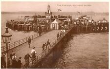 Pier End Southend on Sea RP old pc used 1926 2d Surcharge Postage Due