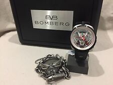 BRAND NEW AUTHENTIC BOMBERG BOLT 68 AUTO LIMITED EDITION SAMURAI BLACK WATCH