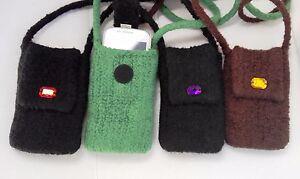 EL BURRO Damentasche Handytasche Filztasche Schultertasche schwarz braun grün
