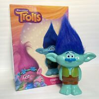"Dreamworks Trolls Branch Piggy Bank 10"" Ceramic Novelty Decor Girls Room New"