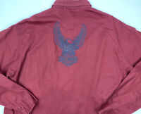 Harley-Davidson Mens Shirt Size M Long Sleeve Heavy Weight Embroidered