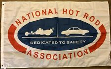NHRA Dedicated To Safety Flag 3x5 Vintage Banner Hot Rod Racing Man Cave Garage