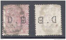 GB-PERFIN 1876 2½d rosy mauve (plate 6), perf.  D B (D)