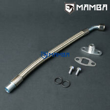 MAMBA VOLVO 740 940 w/ Garrett T3 T4 JB Turbo Oil Return Drain Hose Line Kit