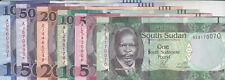 SOUTH SUDAN 1 5 10 20 50 100 POUND 2011 : 2017 P-NEW UNC CURRENT FULL SET lot