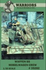 Warriors 1:35 Waffen SS Mobelwagen Crew 3 Resin Figures Kit #35282