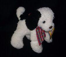 Vintage Menagerie First & Main Eggnog White Puppy Dog Stuffed Animal Plush Toy