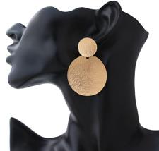 Boho Statement Geomertic Big Circle Rectangle Long Tassel Pearl Stud Earrings