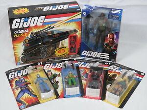 Lot GI Joe Action Figures Cobra Commander Destro Hiss Tank Roadblock Lady Jaye
