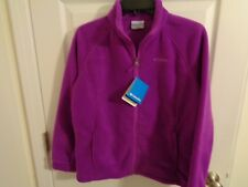 NWT Columbia youth girls plum fleece jacket size XL 18/20 Retails $36.00