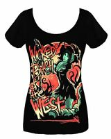 Twisted Wicked Bitch Of The West Ladies Scoop Neck T Shirt emo tattoo