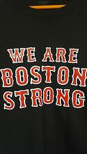 red and white we are boston strong mens large on black t-shirt