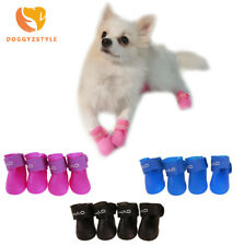 4pcs/set Waterproof Pet Dog Shoes Rubber Anti Slip Rain Boot Puppy Cat Rain Boot