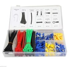 308Pc Terminal Connector Cable Tie Clamp Heat Shrink Electrical Assortment Set