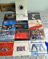 "13 X Status Quo 7"" Singles All Vinyl  EXCELLENT. 12 PIC SLEEVES See Images"