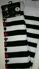 QUEEN OF HEARTS/ALICE IN WONDERLAND OVER THE KNEE SOCKS STOCKINGS 4/6  LADIES