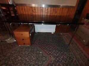 XL Bauhaus - Art Deco Schreibtisch Stahlrohr Möbel Tisch Vintagewriting desk