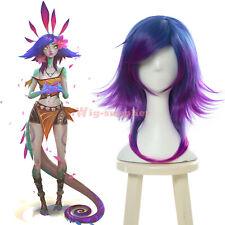 LOL League of Legends Neeko the Curious Chameleon Cosplay Wig Blue Purple Wigs