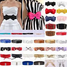 femmes élastique Noeud Large / FIN EXTENSIBLE drapé boucle ceinture taille bande