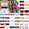 Fashion Women's Waist Belts Elastic Bow Ladies Wide Shiny Waistband Dress Access