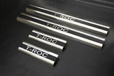 Edelstahl Carbon Style Einstiegsleisten VW T-Roc mit Abkantung und LOGO
