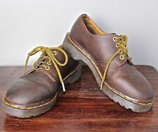 90's Grunge Vtg Doc Martens Made in England Brown Leather Oxfords