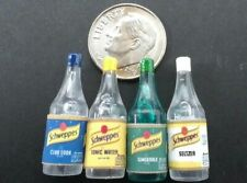 Dollhouse Miniature Set 4 Soda Mixers - 1 Liter Bottles 1:12 scale