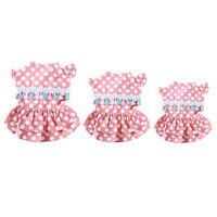 Pet Small Puppy Dog Dot Dress Tassel Skirt Princess Dress Clothes Apparel KI