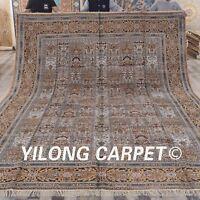 YILONG 10'x14' Four Seasons Handmade Silk Persian Carpet Oversize Rug ZW172C